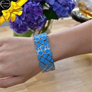 Jewelry - Blue Enamel Silver Tone Bracelet ~0cd40s0sc160gw